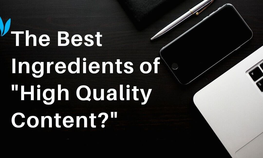 High quality content will always connect with your business objectives and your target audience. It's the connection that creates quality.